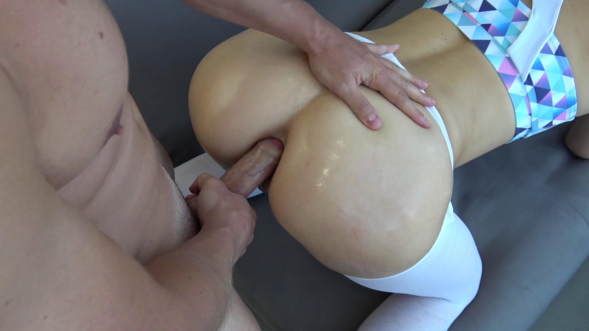 Huge cum in the ass