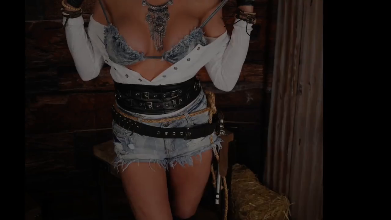 Cowgirl Teases in Hot Nude Photoshoot Striptease